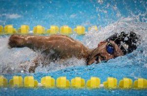 Daniel Dias na piscina / Imaxe da súa conta de Instagram oficial