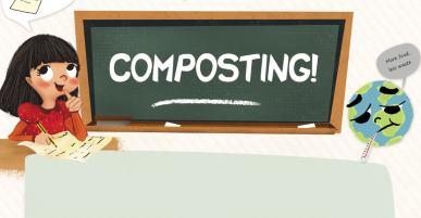 Nova ficha didáctica, neste caso sobre compostaxe, para clase de inglés no Caderno Verde de Sogama