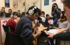 O Leo i Arremecághona en pleno directo en Radio Turonio no Día Mundial da Radio