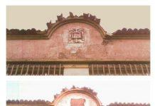 Outro chanzo na memoria histórica: retirado o escudo franquista da antiga escola de Amio