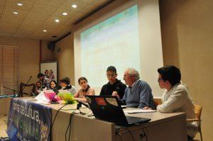 unha programación que escolares de Galicia e de Portugal elaboraron para ser emitida desde o Museo do Mar de Galicia
