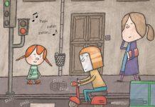 Un día Sabela foi de visita á casa dos avós á aldea.