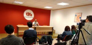 Suso Bermello na conferencia de prensa de inicio do curso 2019/2020